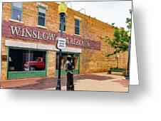 Standing On The Corner - Winslow Arizona Greeting Card