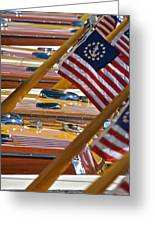 Stars And Stripes On The Water Greeting Card