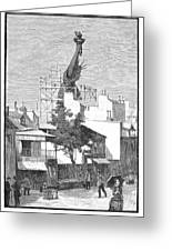Statue Of Liberty, 1884 Greeting Card