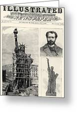 Statue Of Liberty, 1885 Greeting Card