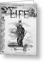 Statue Of Liberty Cartoon Greeting Card