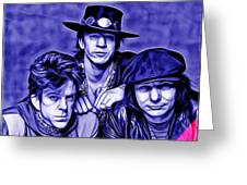 Stevie Ray Vaughan And Double Trouble Collection Greeting Card