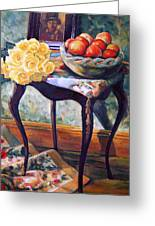 Still Life With Roses Greeting Card