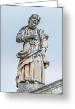Stone Statue In The Old Town Perast  Greeting Card