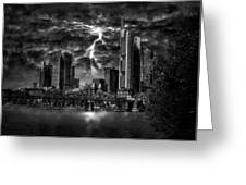 Storm Over Frankfurt Greeting Card