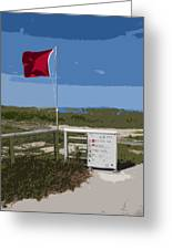 Storm Warning On The Atlantic Ocean In Florida Greeting Card
