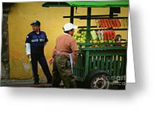 Street Vendor - Antigua Guatemala Greeting Card