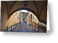 Streets Of Brescia Greeting Card