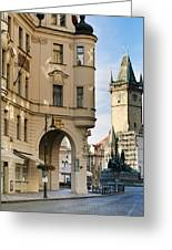 Streets Of Prague Greeting Card