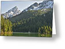 String Lake Reflection Greeting Card
