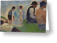 Study For Bathers At Asnieres Greeting Card