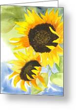 2 Sunflowers Greeting Card