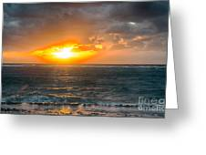 Sunrise At Kapaa - Kauai Greeting Card