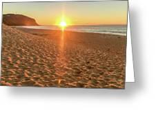Sunrise Beach Seascape Greeting Card