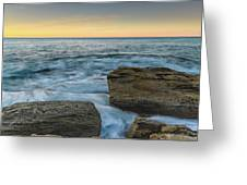 Sunrise On The Rocky Coast Greeting Card