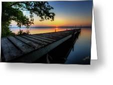 Sunrise Over Cayuga Lake Greeting Card