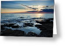 Sunset At Basanija Greeting Card