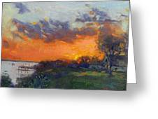 Sunset At Gratwick Waterfront Park Greeting Card