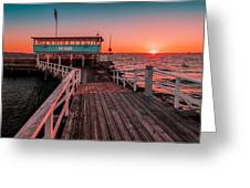 Sunset At Langedrag, Gothenburg Greeting Card