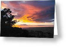 Sunset At Yaki Point Greeting Card