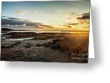 sunset Iceland Greeting Card