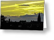 Sunset In Koln Greeting Card