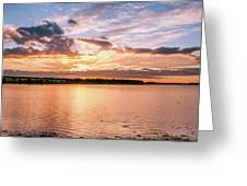Sunset Over The Bay.......... Greeting Card