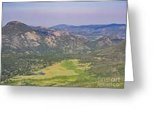 Superb Landscape In Rocky Mountain National Park Greeting Card