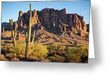 Superstition  Mountains Arizona Greeting Card