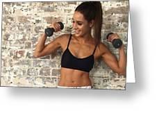 Sweat With Kayla Greeting Card