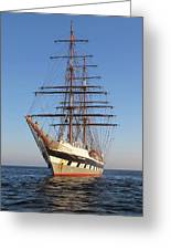 Tall Ship Anchored Off Penzance Greeting Card