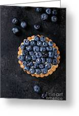 Tartlet With Blueberries Greeting Card