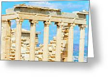 Temple Of Athena Nike In Greece Greeting Card