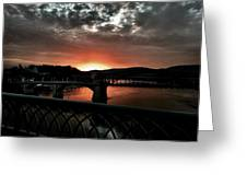 Tennessee River Sunset Greeting Card