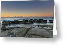 Tessellated Rock Platform And Seascape Greeting Card