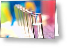 Test Tubes In Science Lab Greeting Card