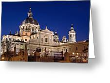 The Almudena Cathedral Greeting Card