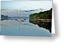 The Bass River At Dawn, Beverly Ma Greeting Card