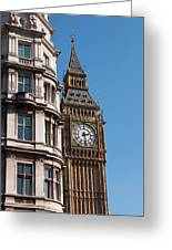 The Clock Tower In London Greeting Card