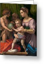 The Holy Family With The Young Saint John The Baptist Greeting Card