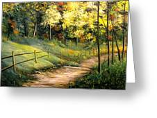 The Pathway Of Life Greeting Card