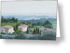 The Rolling Hills Of Tuscany Greeting Card