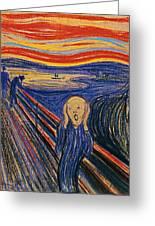 The Scream Ver 1895 Edvard Munch Greeting Card