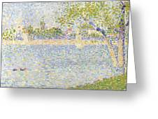 The Seine Seen From La Grande Jatte Greeting Card