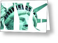 The Statue Of Liberty At New York City  Greeting Card