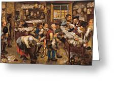 The Tax Collectors Office  Greeting Card