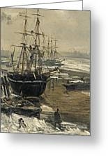 The Thames In Ice Greeting Card