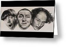 The Three Stooges Hollywood Legends Greeting Card
