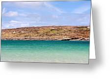 The Turquoise Water Of Dogs Bay Ireland Greeting Card