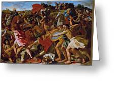 The Victory Of Joshua Over The Amalekites Greeting Card